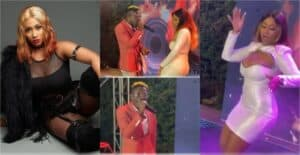 Video: Shatta Wale performs with Hajia4Real at her first song release party