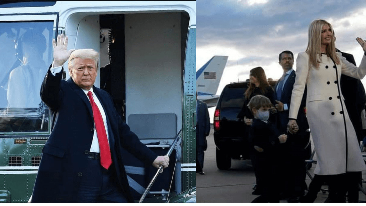 Read more about the article Photos: Donald Trump And Family Leaving The White House.
