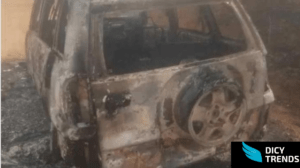 Read more about the article Police Chief Inspector's car burns to ashes .