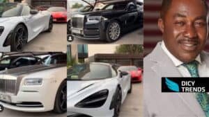 Watch video- Kwame Despite's Luxurious Cars Park, With Expensive Cars Pop up