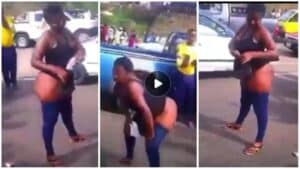 [video]– Beautiful lady goes mad after chilling with an unknown rich man in a hotel