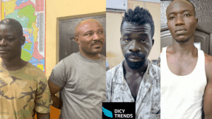 4 ARMED ROBBERS HAVE BEEN ARRESTED AT OFAAKOR