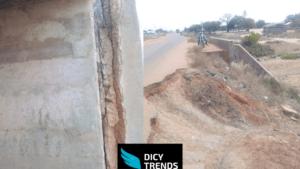 Bad Nature Of Roads And Bridge In Ningo .