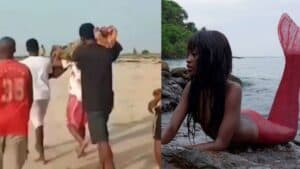 """[Video]-""""We Saw Maame Water, We Wanted to sleep with her""""- Rescued Boy In Apam Drowning"""