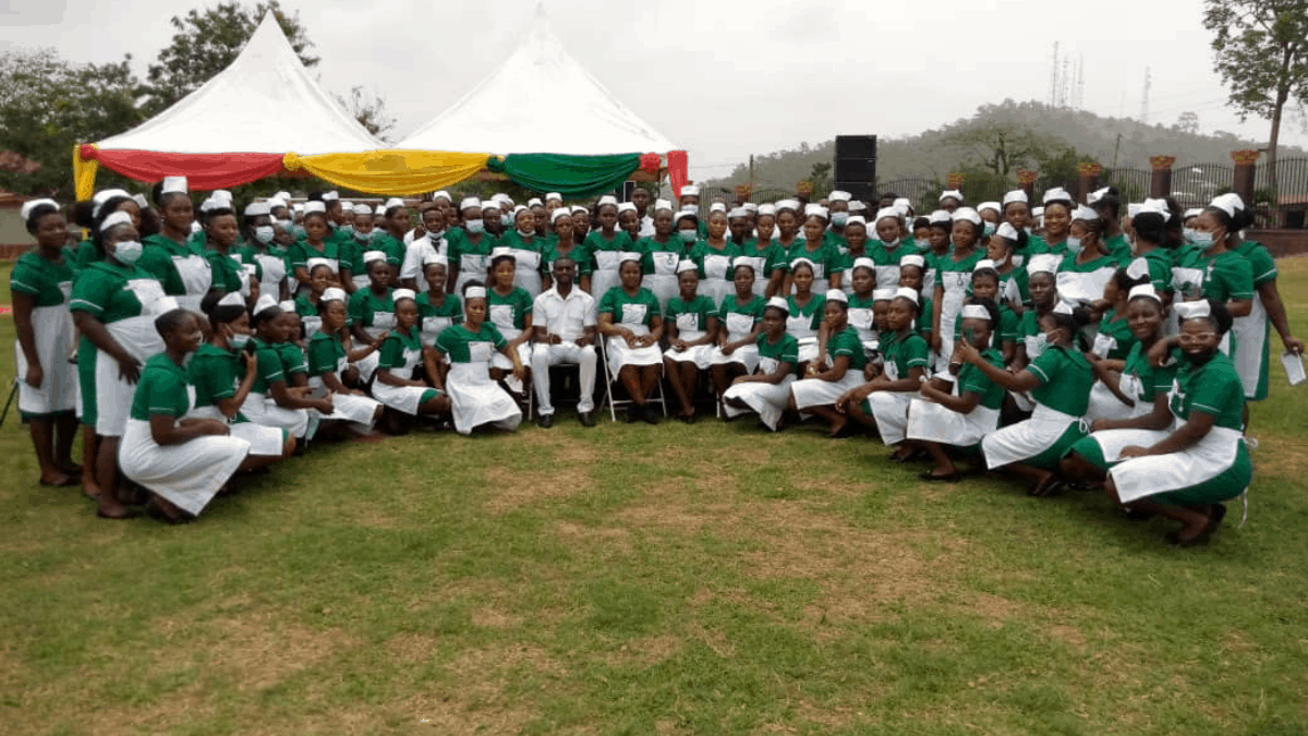 653 Students Matriculated In The Dunkwa Nursing And Midwifery Training College