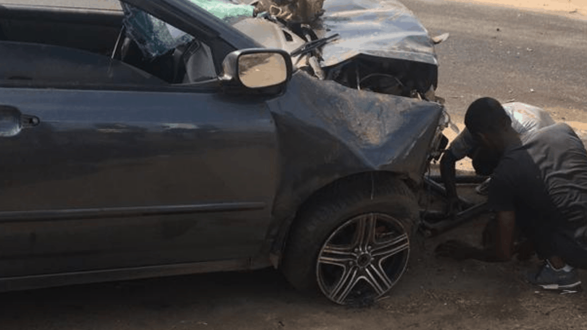 ACCIDENT AT AWOSHIE ABRANTIE , TWO PEOPLE IN CRITICAL CONDITIONS