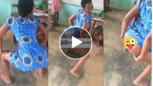 Read more about the article Spoilt SHS Girl Tw3rks & Remove dross whiles Dancing To Medikal's Wrowroho In Class