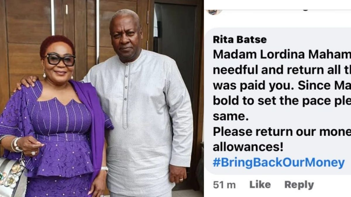 Read more about the article 'Bring Back Our Money' hashtag trends as Lordina Mahama becomes next target to refund allowances