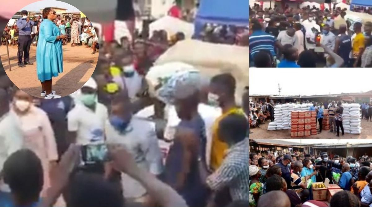 Read more about the article VIDEO-Angry fishermen reject Hawa Koomson bags of rice at Elmina: sing and hoot at them