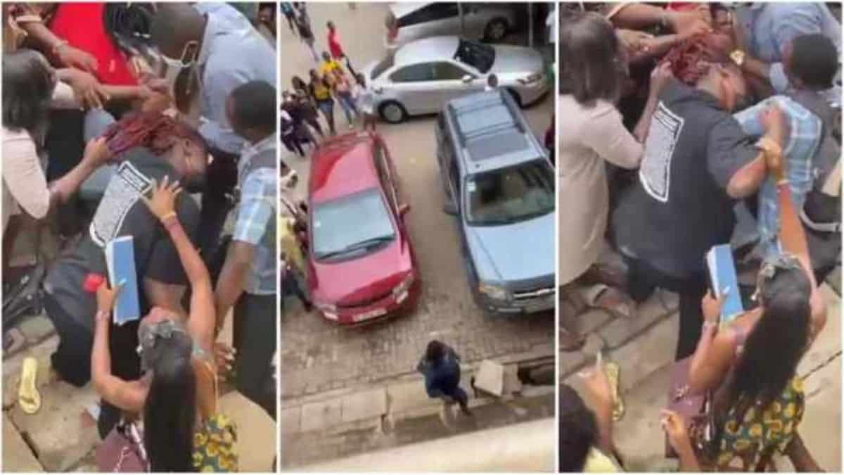 Read more about the article VIDEO-Two female students of Accra Technical university exchange blows over a man