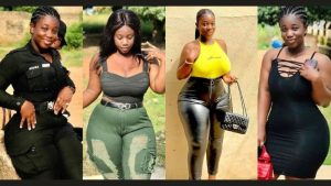 """Read more about the article """"Is she a Police Officer"""" Ghanaians react to Curvy Police Ama Serwaa's Pictures on social media"""
