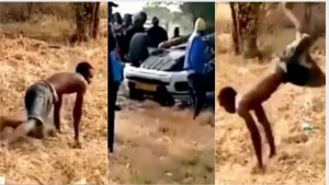 Read more about the article Trotro driver pretends to be mad after crashing into Range Rover [Video]