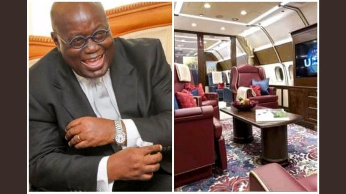 Read more about the article Check Out Photos Of The £14k an hour jet Hired By Pres. Akuffo-Addo According To Hon Okudzeto