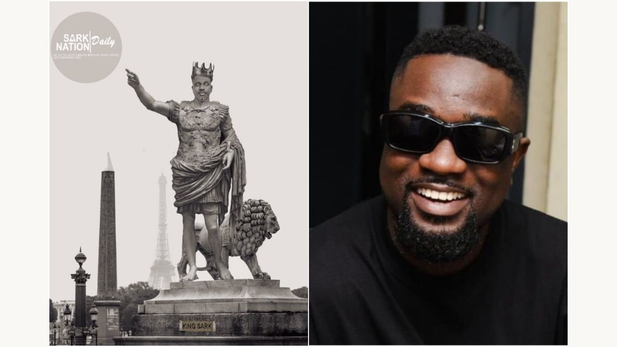 Read more about the article (+PHOTO) Massive reaction as statue of Sarkodie pops up on social media