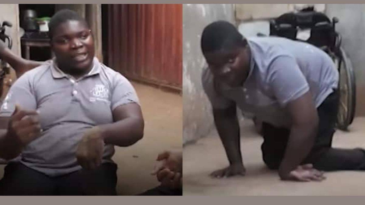Read more about the article Physically Challenged man rejected by her parents asks God 3 Questions in a chilling video